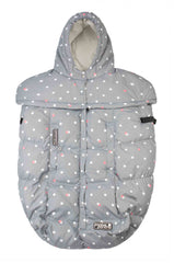 7 A.M. Pookie Poncho Grey Dots