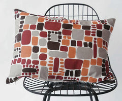 Area Bedding Pebble Pillow Orange X-Small