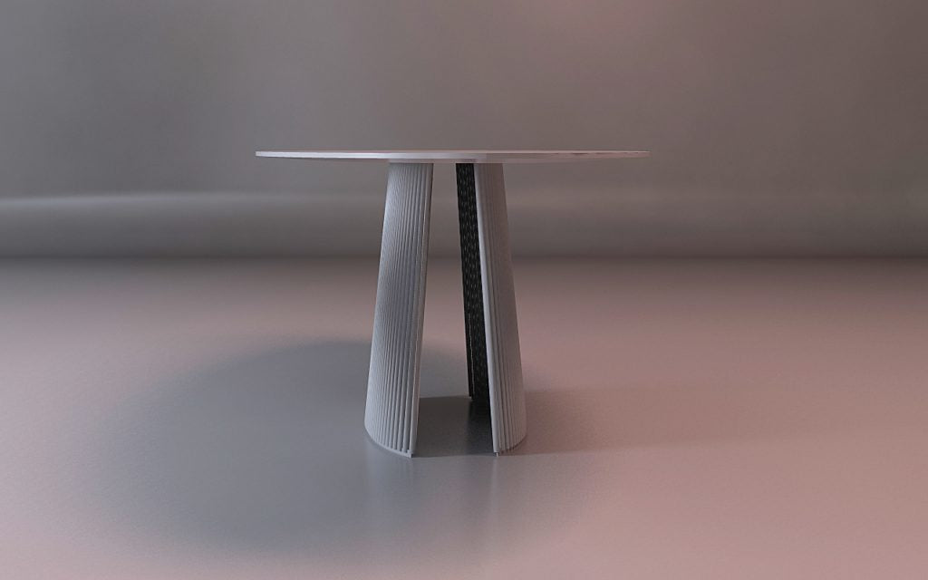 B&T Seri Table Dining Small by Nuans Design