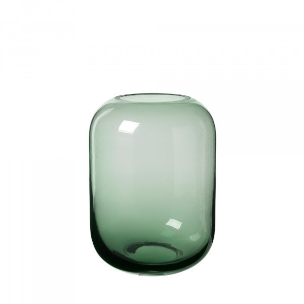 Blomus OVALO Glass Vase 8x6 - Satin Green