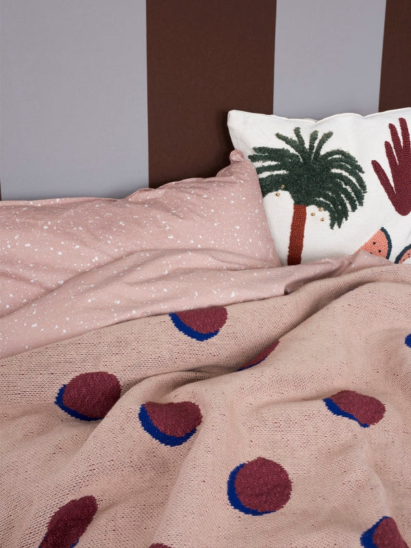 ferm LIVING Double Dot Blanket - Rose