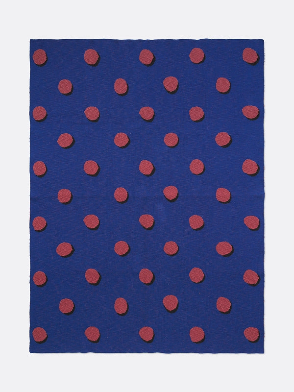 ferm LIVING Double Dot Blanket - Blue