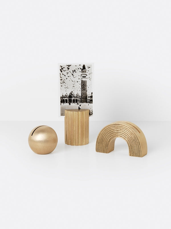 ferm LIVING Card Stand - Column - Brass