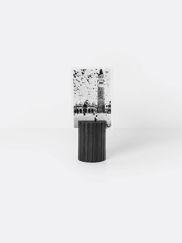 ferm LIVING Card Stand - Column - Black Brass
