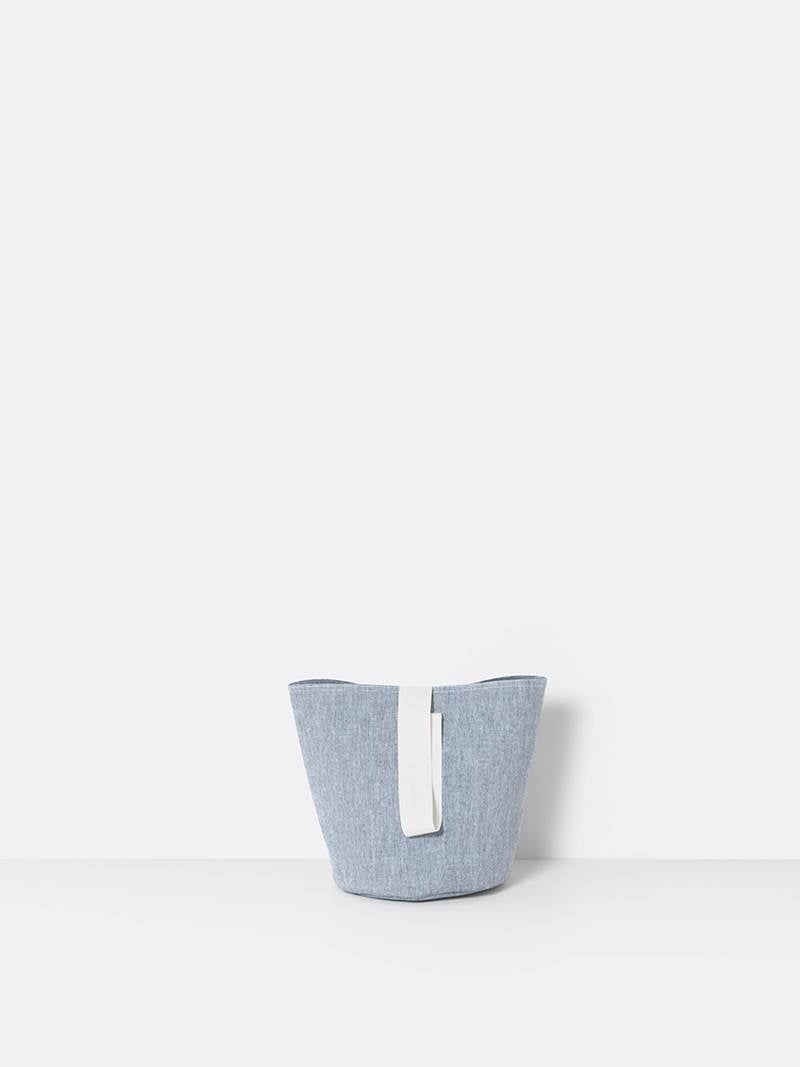 ferm LIVING Chambray Basket Blue - Small