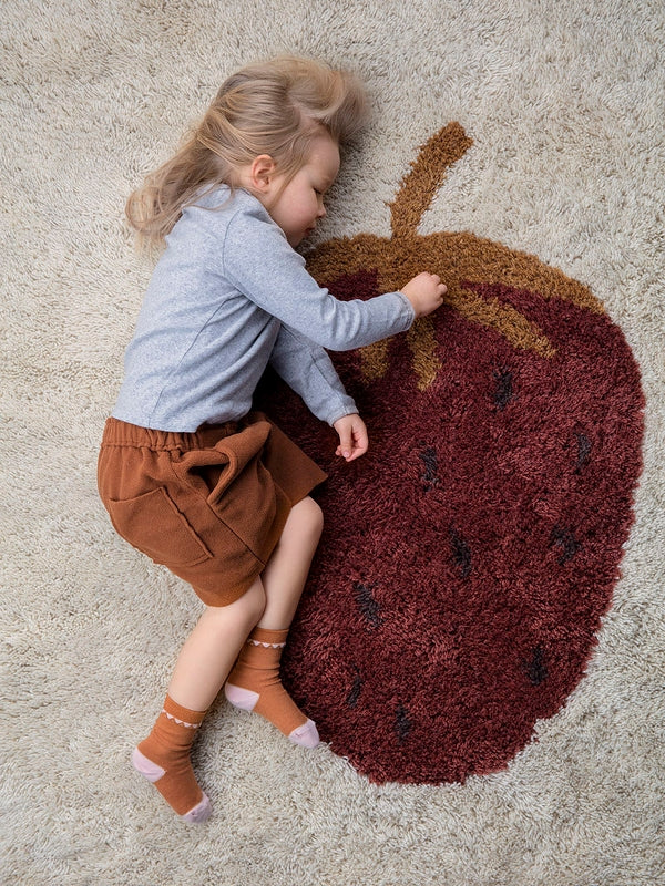 ferm LIVING Fruiticana Tufted Strawberry Rug - Large