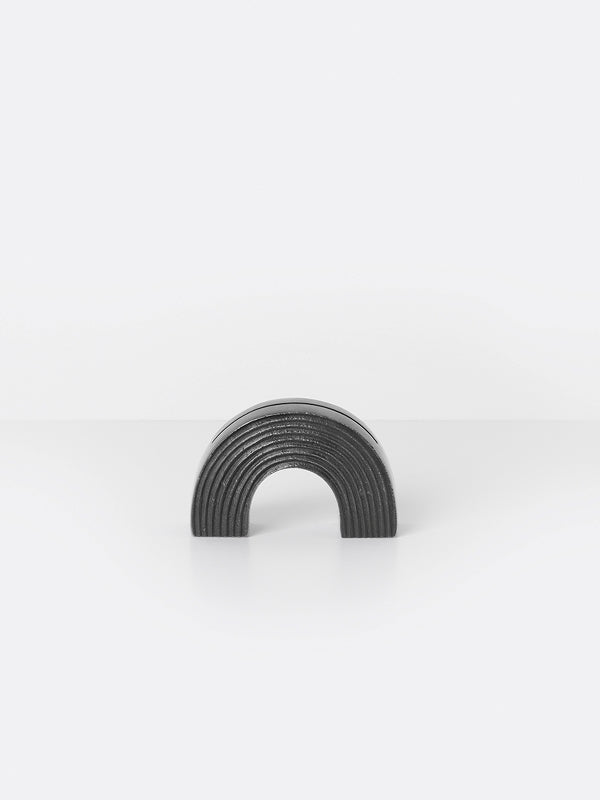 Card Stand - Arch - Black Brass