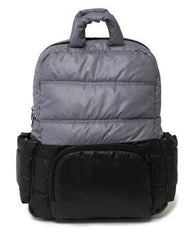 7 A.M. BK718 Diaper Bag - Black Cement