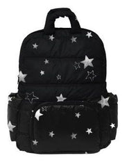 7 A.M. BK718 Diaper Bag - Black with Stars
