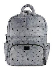 7 A.M. BK718 Diaper Bag - Heather Grey with Stars
