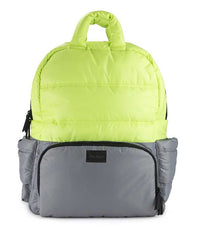 7 A.M. BK718 Diaper Bag - Neon Lime/Ciment