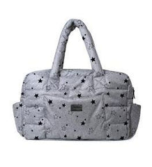 7 A.M. Soho Diaper Bag - Heather Grey with Stars