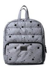 7 A.M. Mini Backpack - Heather Grey with Stars