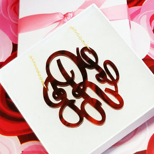 "2.5"" Monogram Necklace"