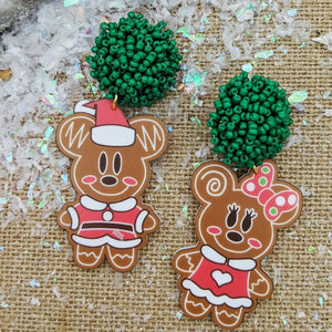 Gingerbread Mickey Earrings