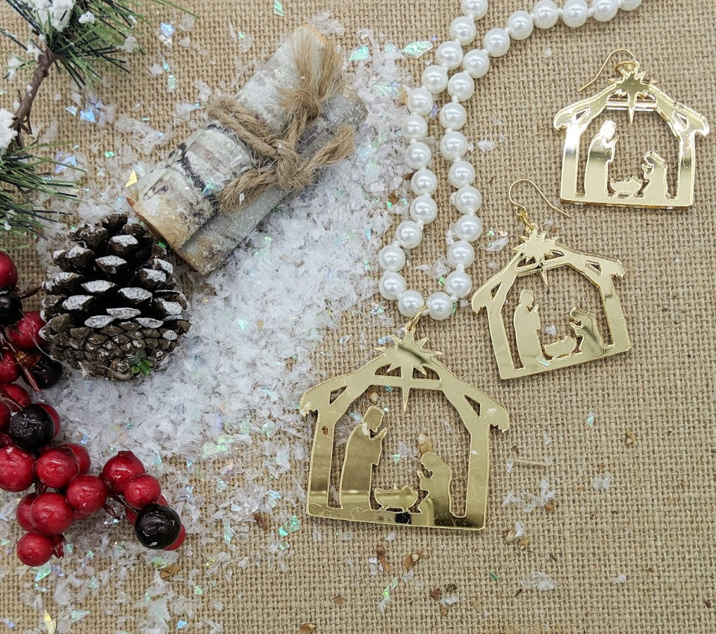 Nativity Earring and Necklace Set