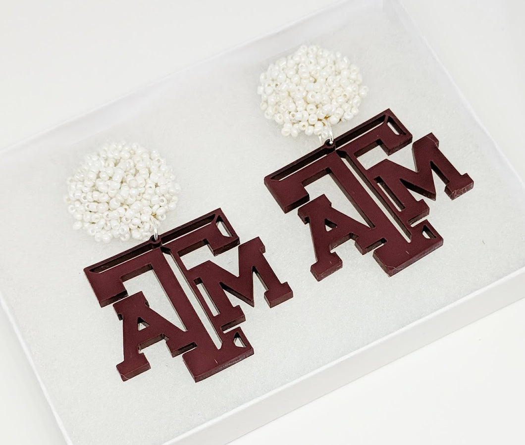Texas A&M Earrings