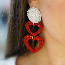 Load image into Gallery viewer, Double Heart Earrings