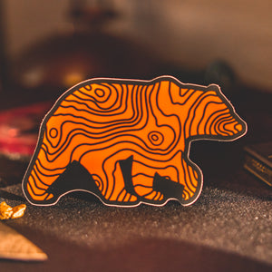 Topo Bear Sticker by Lifestyle Overland