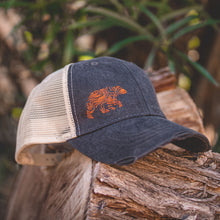 Load image into Gallery viewer, Lifestyle Overland Topo Bear Snap-Back Hat