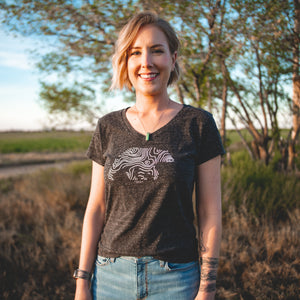 Women's Topo Bear V-Neck by Lifestyle Overland