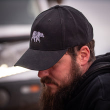 Load image into Gallery viewer, Lifestyle Overland Topo Bear Wool Snapback Hat