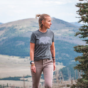 Lifestyle Overland Mama Bear T-Shirt in Deep Heather