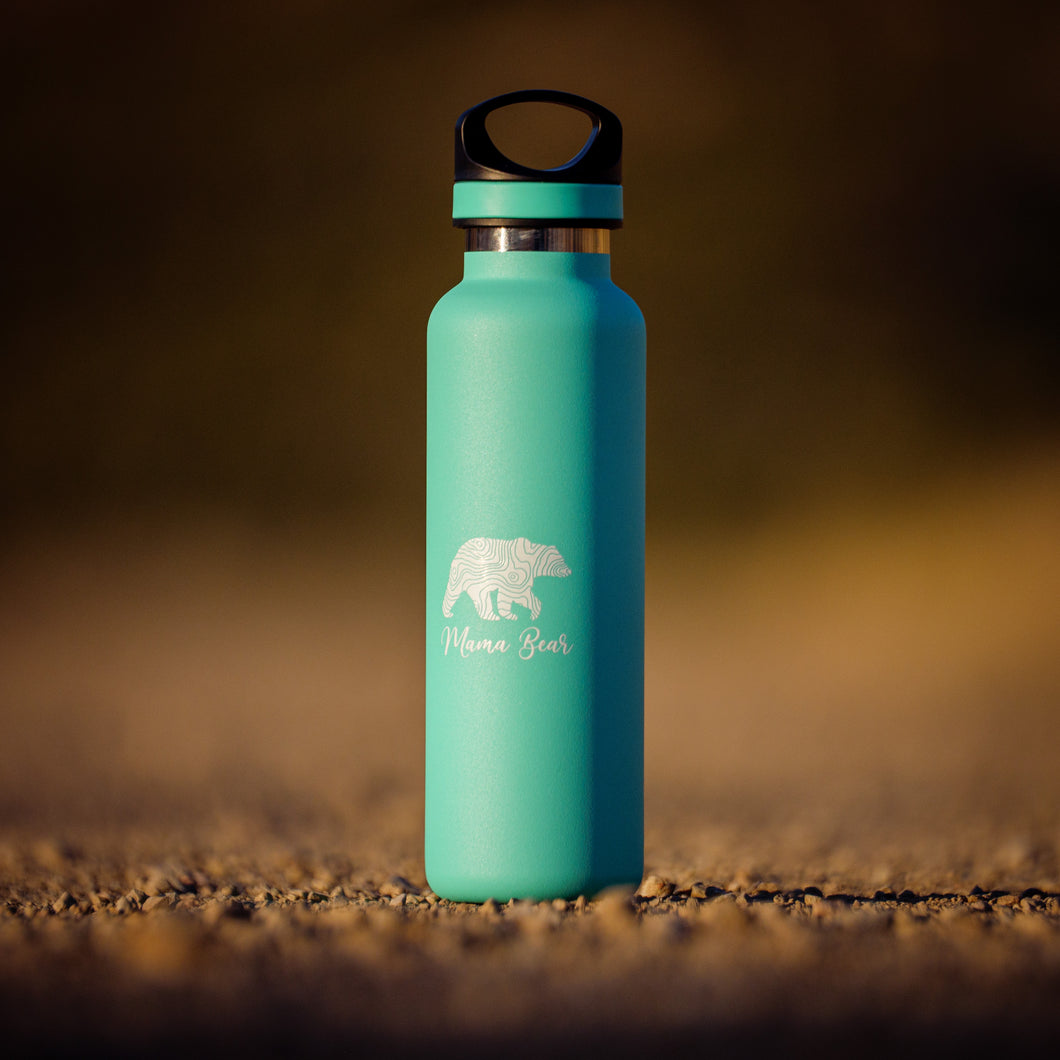 Mama Bear Insulated Bottle in Seafoam (LIMITED EDITION)