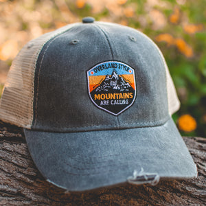 "Overland Style ""Mountains are Calling"" Snap-Back Hat"