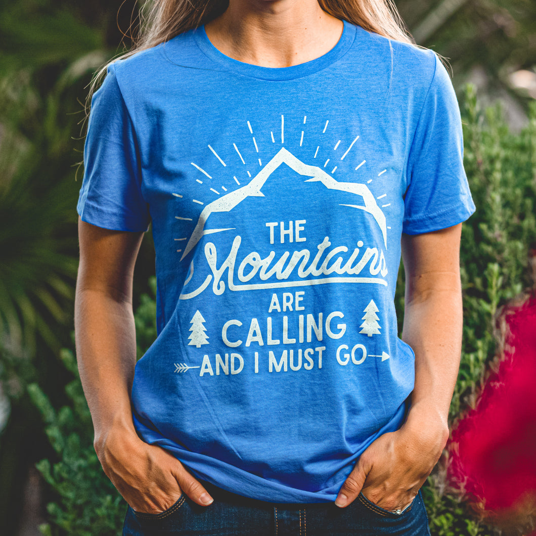 The Mountains are Calling T-shirt by Overland Style