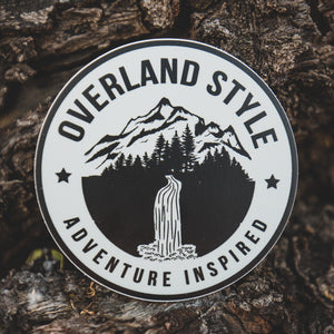 Overland Style Adventure Inspired Waterfall Sticker