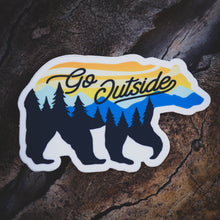 Load image into Gallery viewer, Go Outside Bear Sticker