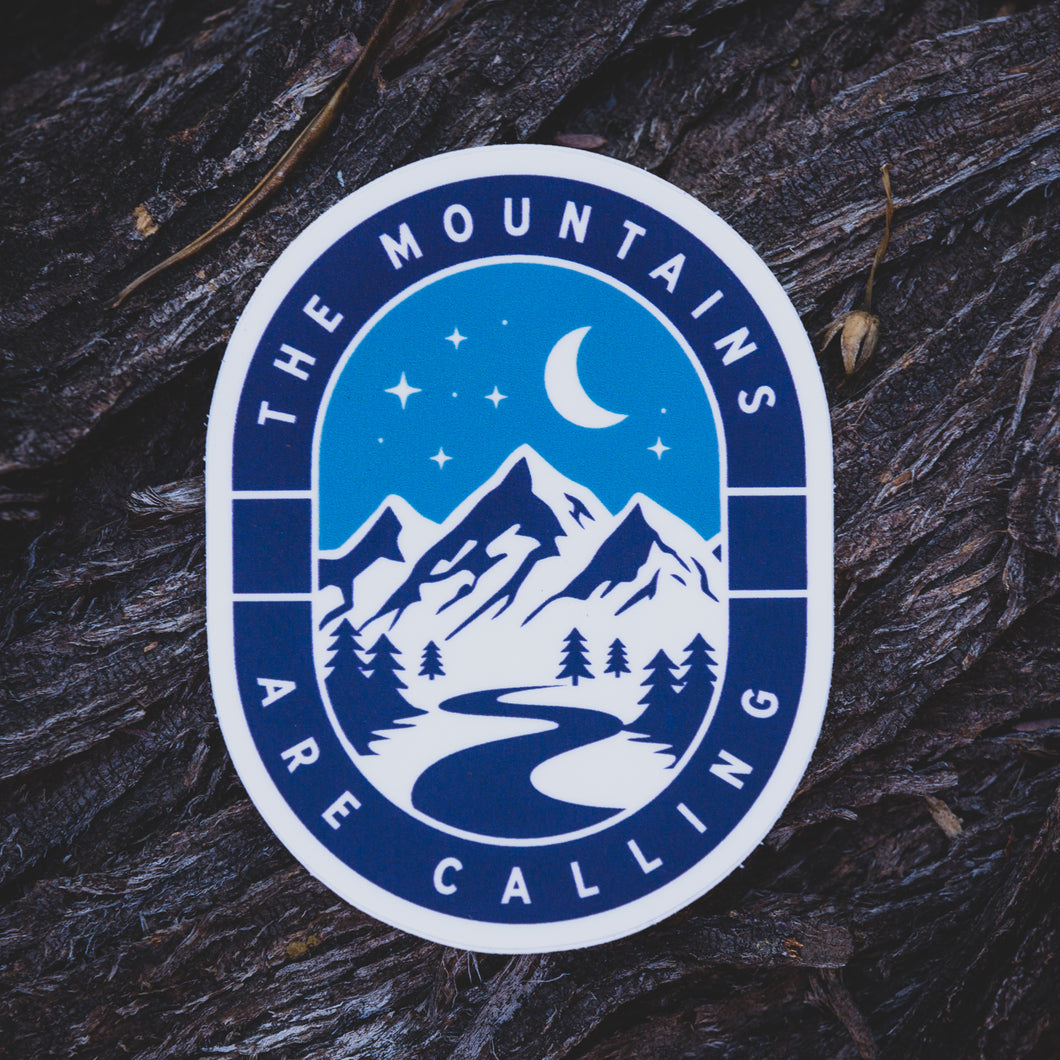 Winter Mountains Are Calling Sticker