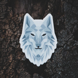 Arctic Poly Wolf Sticker