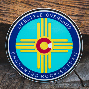 Lifestyle Overland Enchanted Rockies Trail Sticker