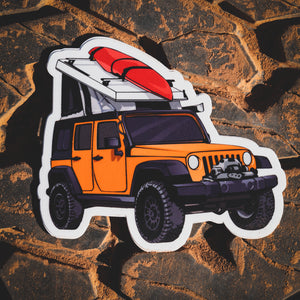 Venture 4WD Jeep Sticker
