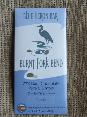 Blue Heron Bar – Ecuador 72% Dark - Cococlectic: A Craft Bean-to-Bar Club