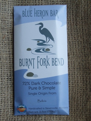 Blue Heron Bar – Bolivia 72% Dark - Cococlectic: A Craft Bean-to-Bar Club