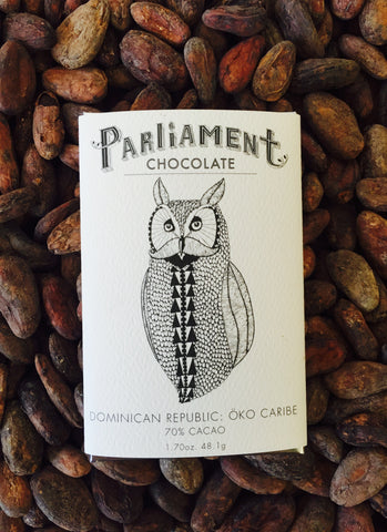 70% Dominican Republic: Oko Caribe - Cococlectic: A Craft Bean-to-Bar Club featuring different American craft chocolate makers each month