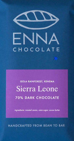 Sierra Leone Gola Rainforest 70% - Cococlectic: A Craft Bean-to-Bar Club featuring different American craft chocolate makers each month