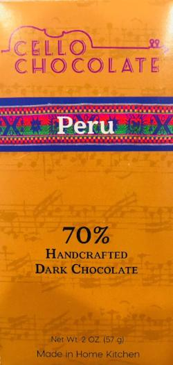 Peru 70% - Cococlectic: A Craft Bean-to-Bar Club featuring different American craft chocolate makers each month