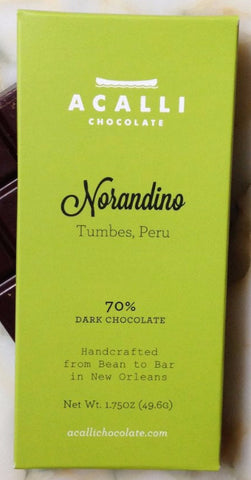 Norandino 70% - Cococlectic: A Craft Bean-to-Bar Club featuring different American craft chocolate makers each month