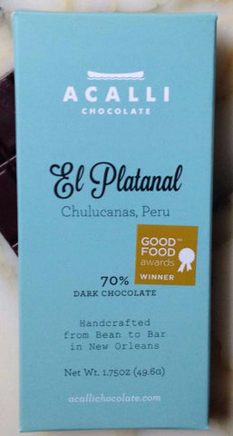 El Platanal 70% - Cococlectic: A Craft Bean-to-Bar Club featuring different American craft chocolate makers each month