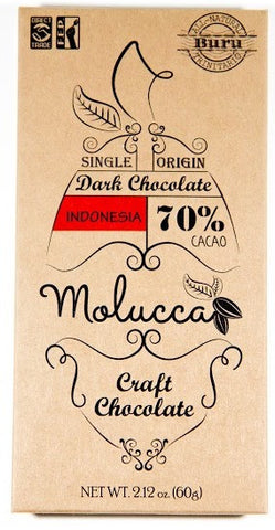 70% Buru Indonesia - Cococlectic: A Craft Bean-to-Bar Club featuring different American craft chocolate makers each month