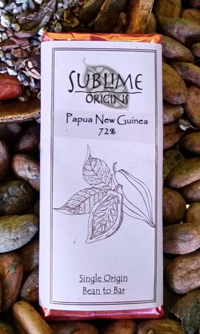 Papua New Guinea (PNG) 72% - Cococlectic: A Craft Bean-to-Bar Club featuring different American craft chocolate makers each month