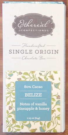 80% Belize Solid Chocolate Bar - Cococlectic: A Craft Bean-to-Bar Club featuring different American craft chocolate makers each month