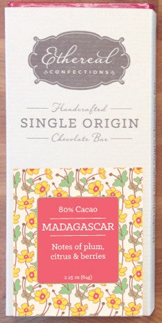 80% Madagascar Solid Chocolate Bar - Cococlectic: A Craft Bean-to-Bar Club