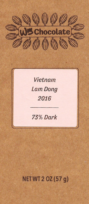Vietnam, Lam Dong 73% - Cococlectic: A Craft Bean-to-Bar Club featuring different American craft chocolate makers each month