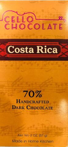 Costa Rica 70% - Cococlectic: A Craft Bean-to-Bar Club featuring different American craft chocolate makers each month