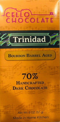 Trinidad Bourbon Barrel Aged 70% - Cococlectic: A Craft Bean-to-Bar Club featuring different American craft chocolate makers each month